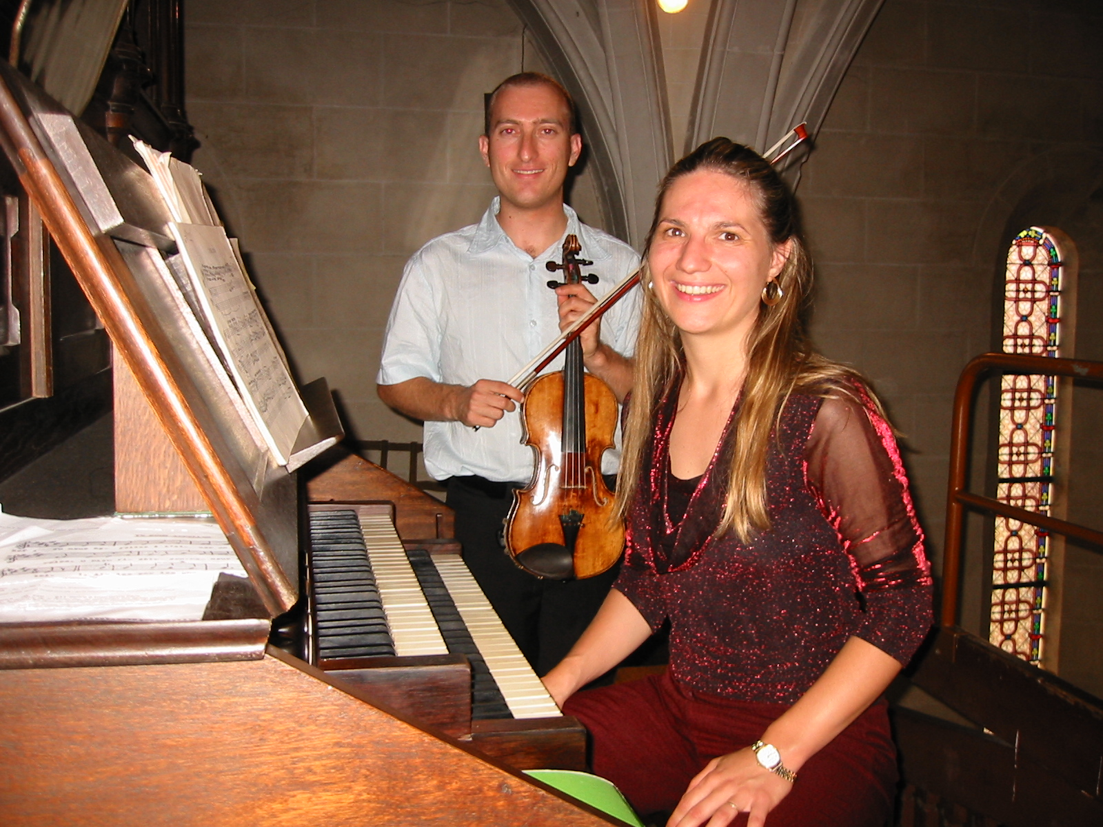 Photo orgue et violon piccinini blanchon 3